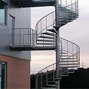 钢踏板螺旋楼梯