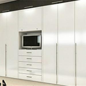 密度板贴饰面板移门衣柜
